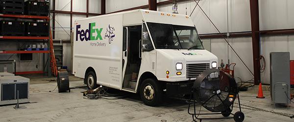 Fedex truck on Dyno